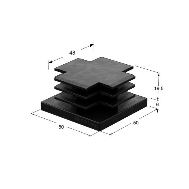 SQUARE TUBE INSERT END CAP / 50x50