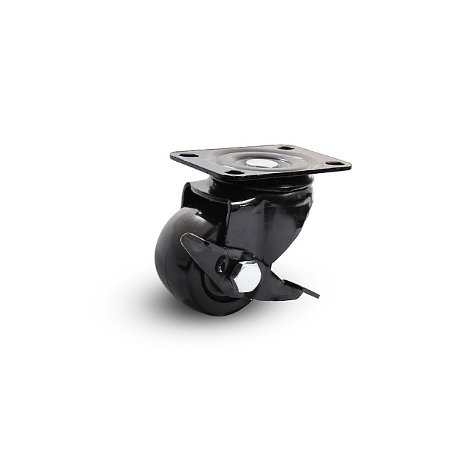 HEAVY DUTY ROTATING CASTER WITH BRAKE D.50