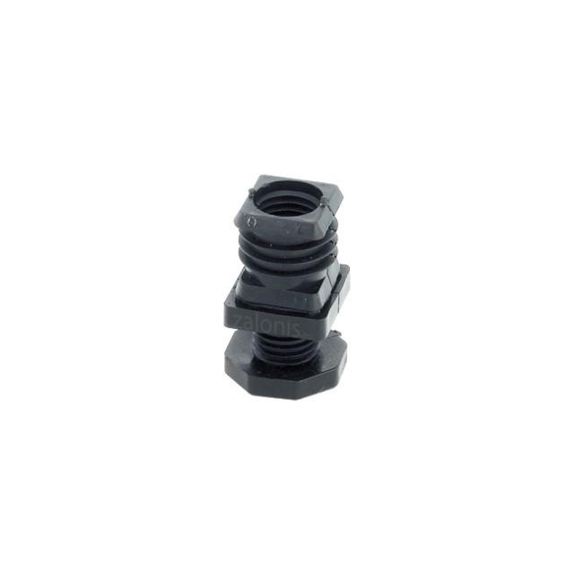 INSERT FEET CAP WITH REGULATOR FOR 30x30 SQUARE TUBE / BLACK