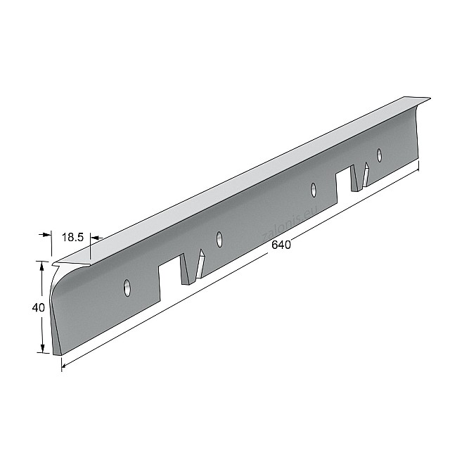 KITCHEN WORKTOPS ALUMINIUM CORNER JOINT / 4x64cm