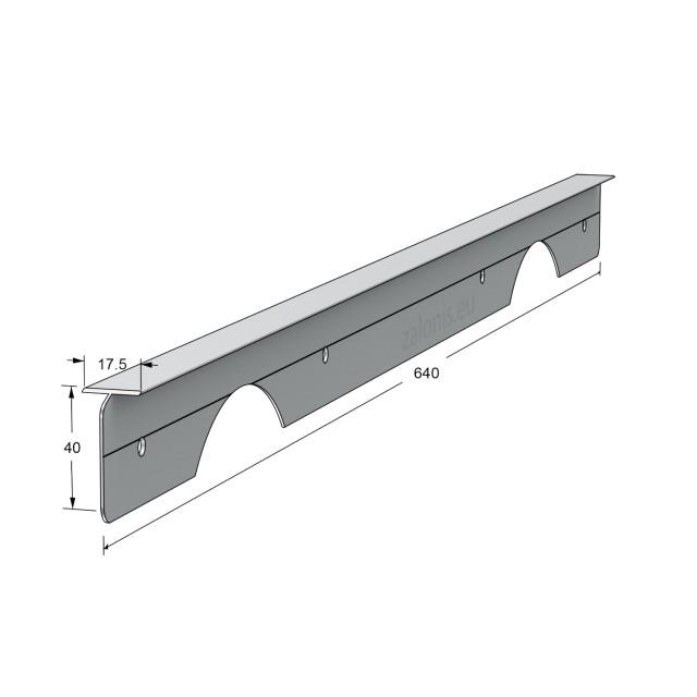 KITCHEN WORKTOPS PRAXITELIS ALUMINIUM T-SHAPE JOINING STRIP / 4x64cm
