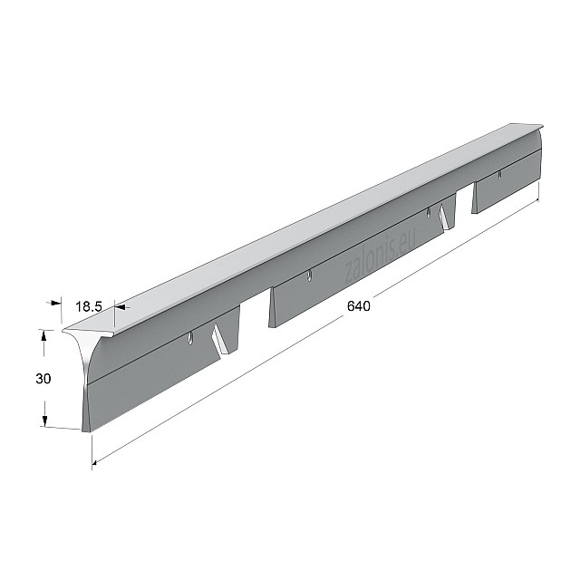 KITCHEN WORKTOPS ALUMINIUM CORNER JOINT / 3x64cm