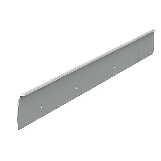 KITCHEN WORKTOPS ALUMINIUM END CAP WITH HOLES / 4x64cm