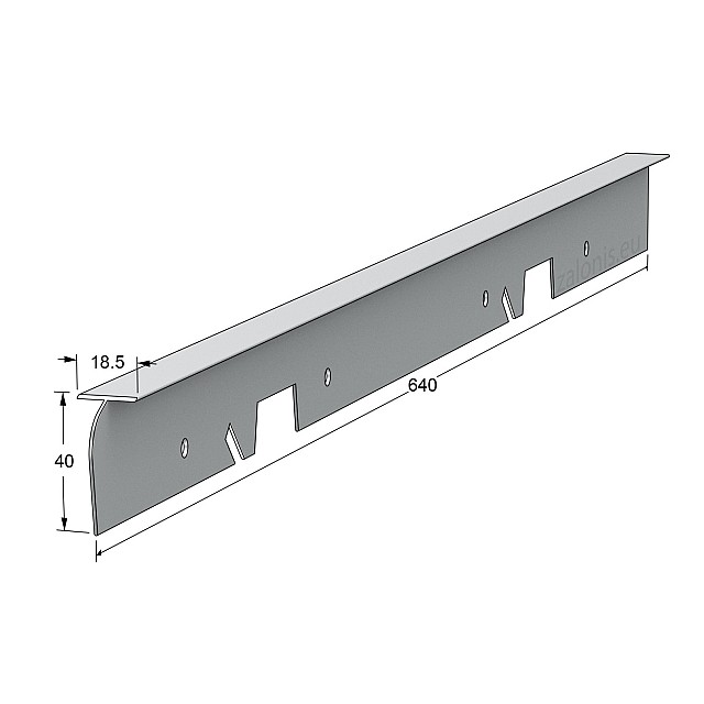 KITCHEN WORKTOPS ALUMINIUM T-SHAPE JOINING STRIP / 4x64cm
