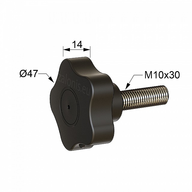 STAR KNOB GRIP CLAMPING SCREW M10