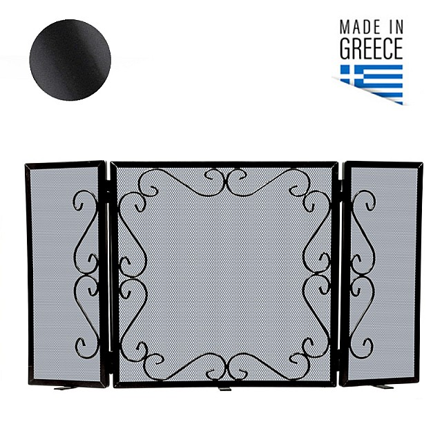 FIREPLACE COVER BELLE METAL 600 / BLACK