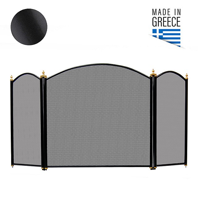 FIREPLACE COVER BELLE METAL 658 / BLACK
