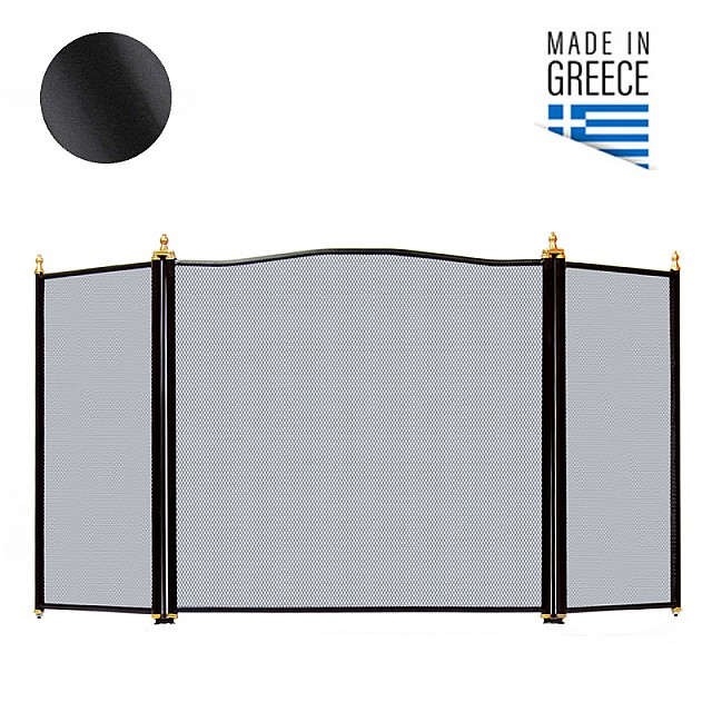 FIREPLACE COVER BELLE METAL 654 / BLACK