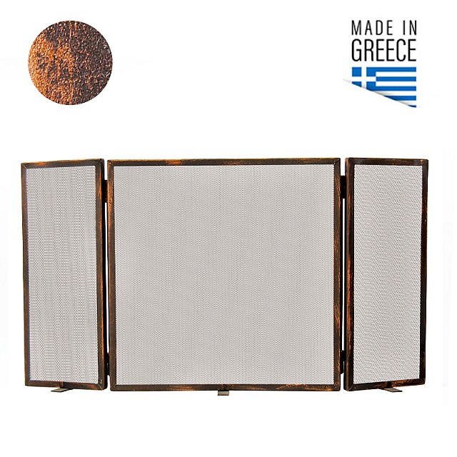 FIREPLACE COVER BELLE METAL 603 / PATINA RUST-COPPER