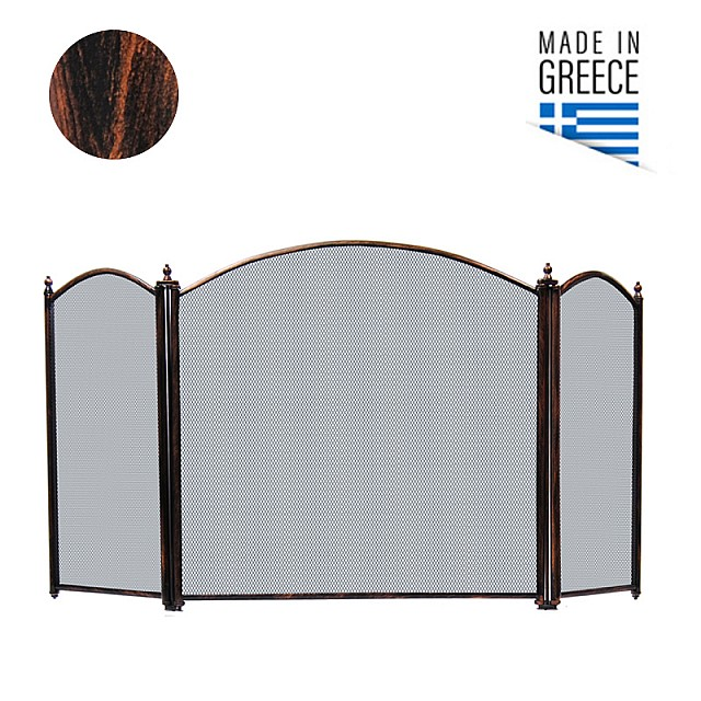 FIREPLACE COVER BELLE METAL 658 / PATINA BLACK-COPPER