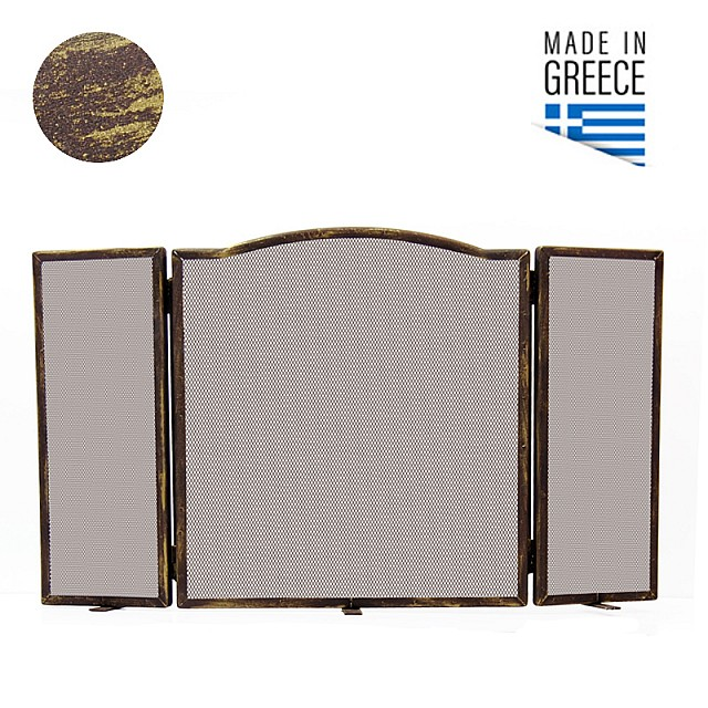 FIREPLACE COVER BELLE METAL 604 / PATINA RUST-GOLD