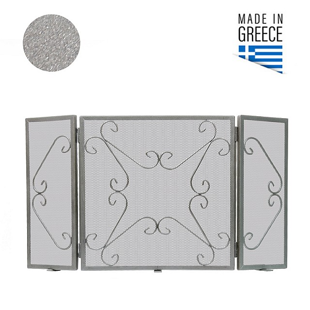 FIREPLACE COVER BELLE METAL 601 / SILVER