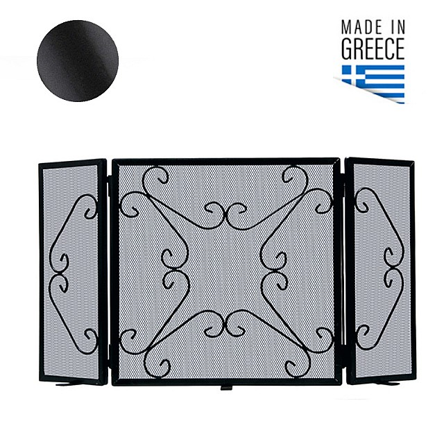 FIRE PLACE COVER BELLE METAL 601 / BLACK