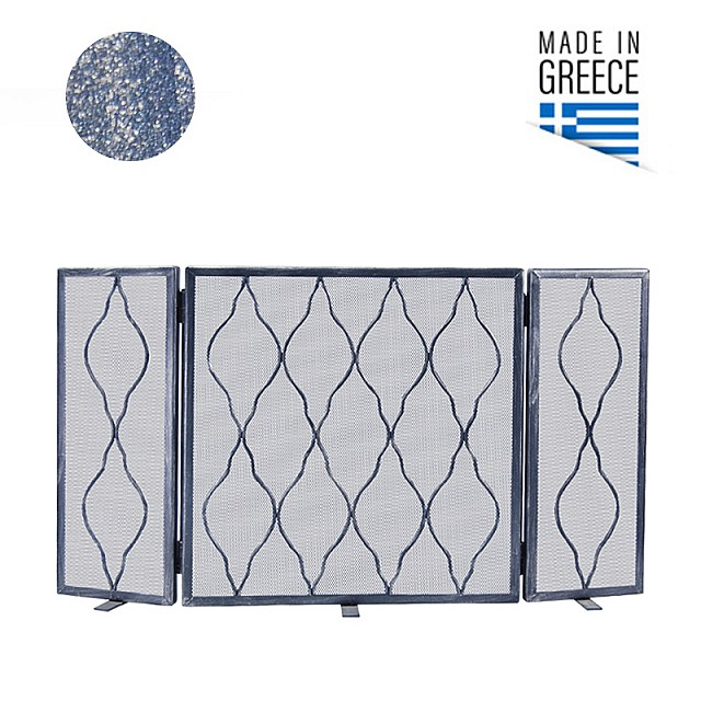 FIRE PLACE COVER BELLE METAL 602 / PATINA BLUE SILVER