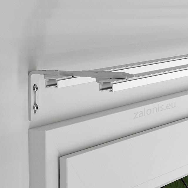 WALL BRACKET FOR TWO SINGLE CURTAIN RAILS