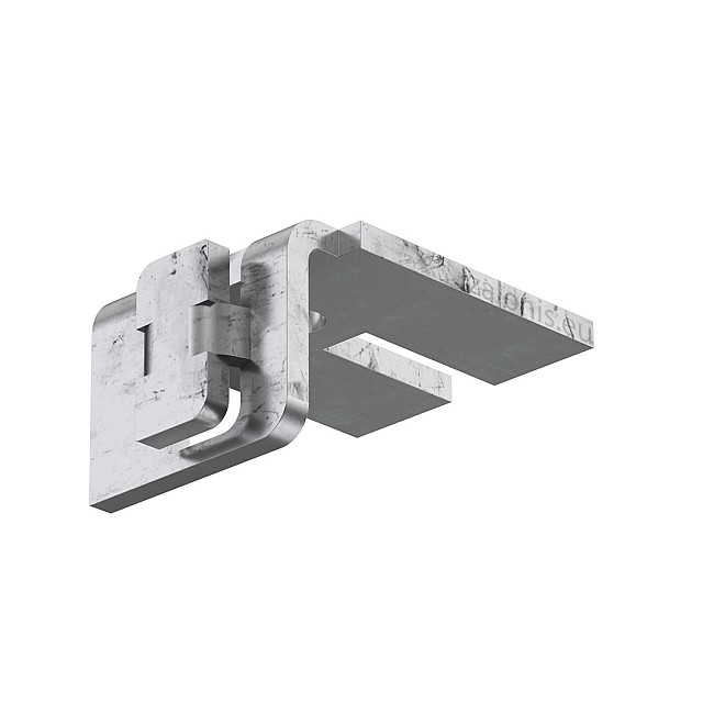 METAL WALL BRACKET FOR DOUBLE DECORATIVE CURTAIN RAIL