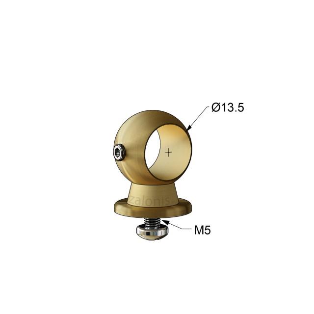 SECOND RAIL CONNECTOR D.13 / MAT GOLD