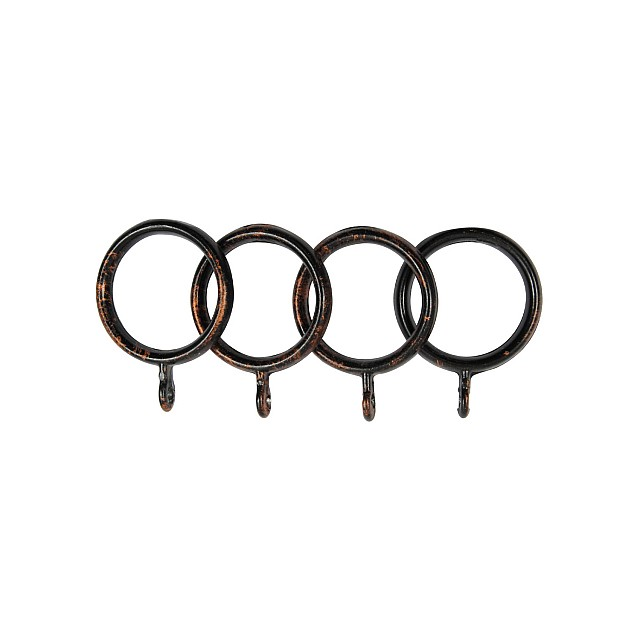 STEEL CURTAIL ROD RING / BLACK-COPPER / FOR D.18