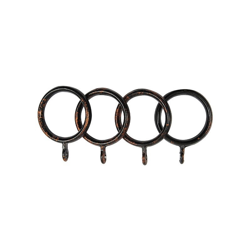 SINGLE CURTAIL ROD SET D.18 / BLACK-COPPER / SPROUT END