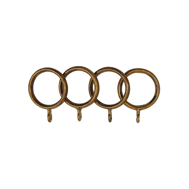 STEEL CURTAIL ROD RING / GOLD-ANTIQUE / FOR D.18