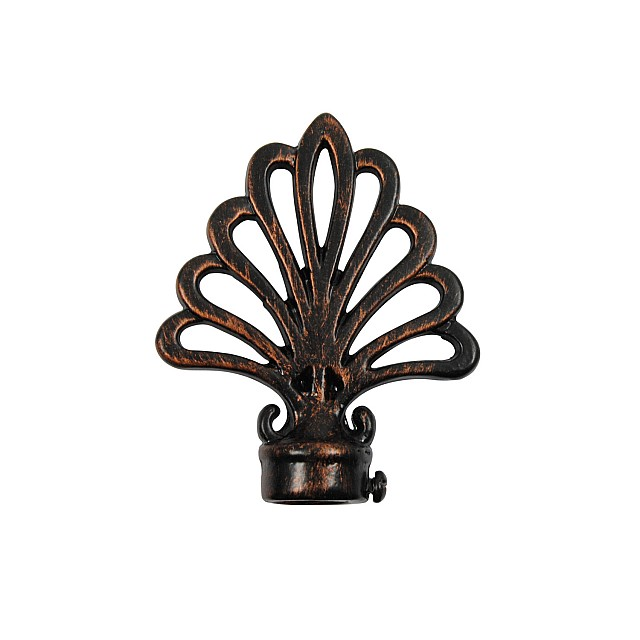 PEACOCK CURTAIL ROD END / BLACK-COPPER / FOR D.18
