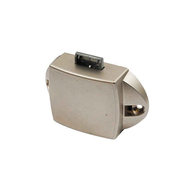 PUSH BUTTON CATCH LOCK 25mm / NIKEL MAT