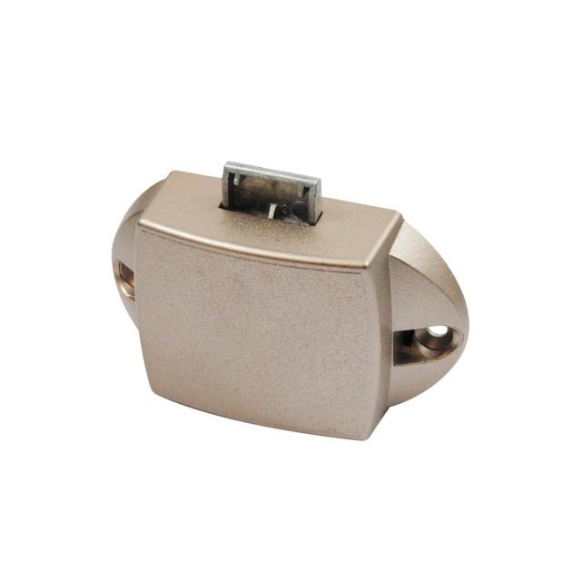 PUSH BUTTON CATCH LOCK 25mm / METAlLIC / NIKEL MAT