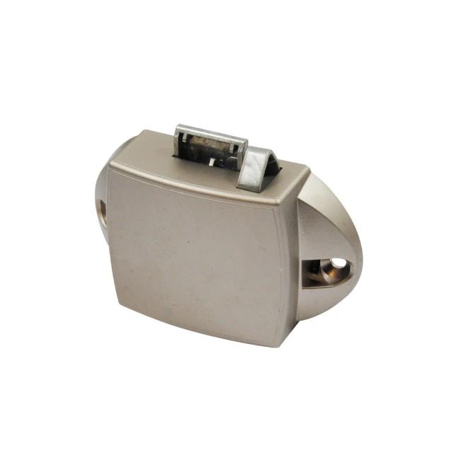 PUSH BUTTON CATCH LOCK 25mm/ WITH LATCH BOLT / NIKEL MAT