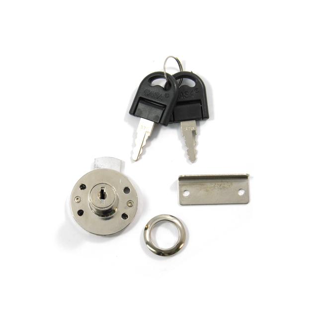 ROUND DRAWER LOCK REI / NICKEL