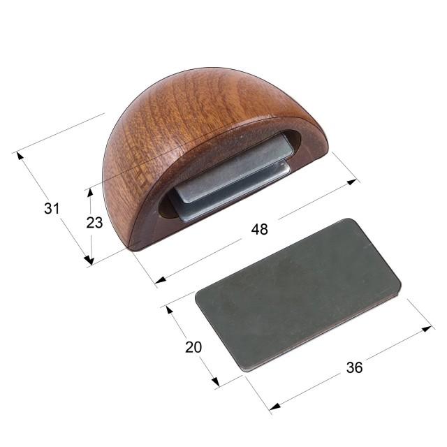 MAGNETIC WOODEN DOOR RETAINER / SAPELE