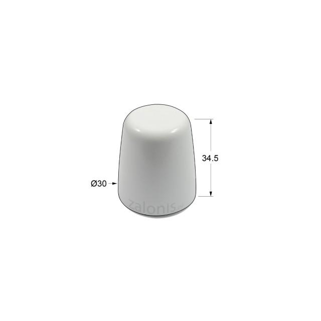 DOOR RETAINER / PLASTIC WHITE