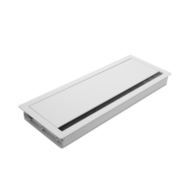 SQUARE DESK GROMMET 29.8x11.6 / MAT WHITE