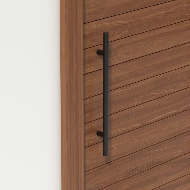 INOX PULL HANDLE FOR DOOR / MAT BLACK / L600 - C400