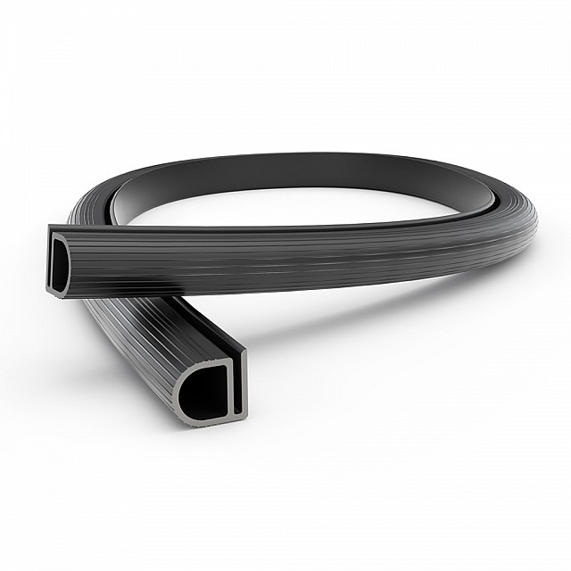 PLASTIC BLACK PROFILE 15.5x14.5mm