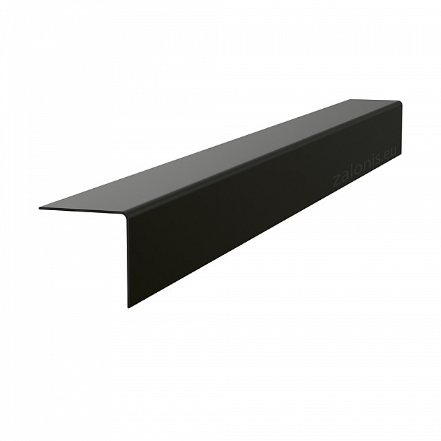 PLASTIC ANGLE PROFILE 30x30 BLACK 280cm