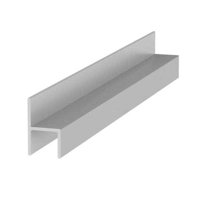 ALUMINUM h-SHAPE PROFILE CHANNEL 24x13.5mm