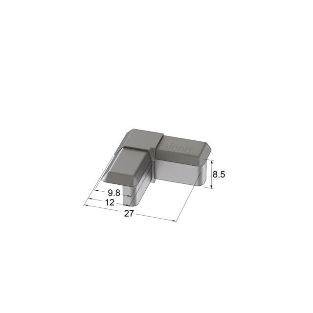 PLASTIC CORNER FOR ALUMINIUM PROFILE 11x12