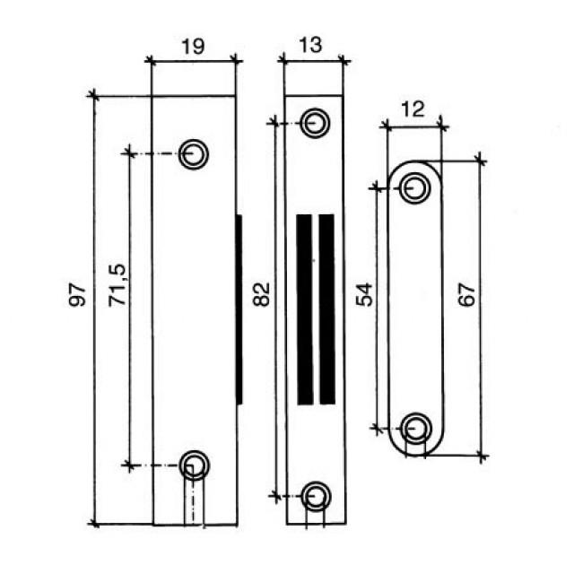 BROWN CORNER BUILT-IN MAGNETIC CATCH 12Kg