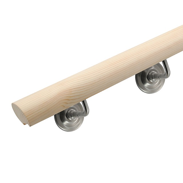 WOODEN HANDRAIL PINE Α' - ROUNDED