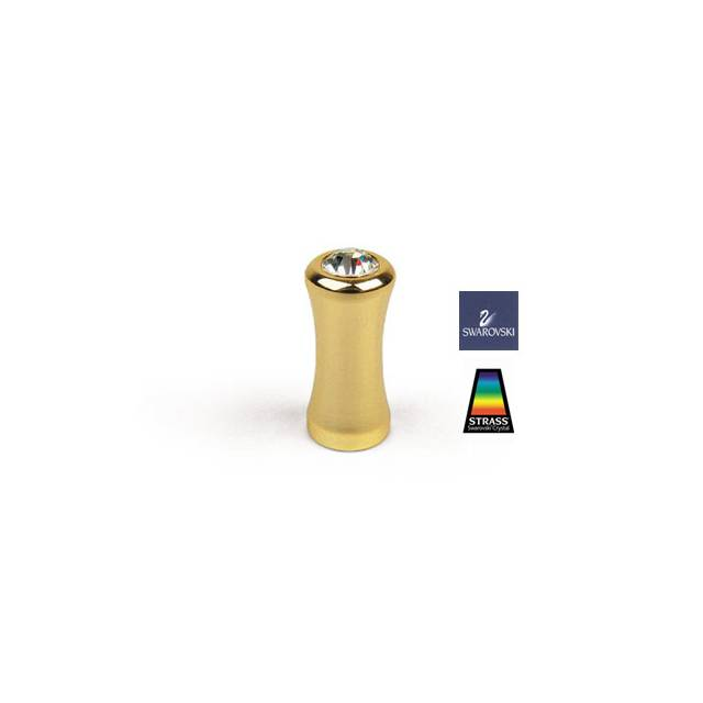 R776 GOLD PLATED - SWAROVSKI FURNITURE KNOB
