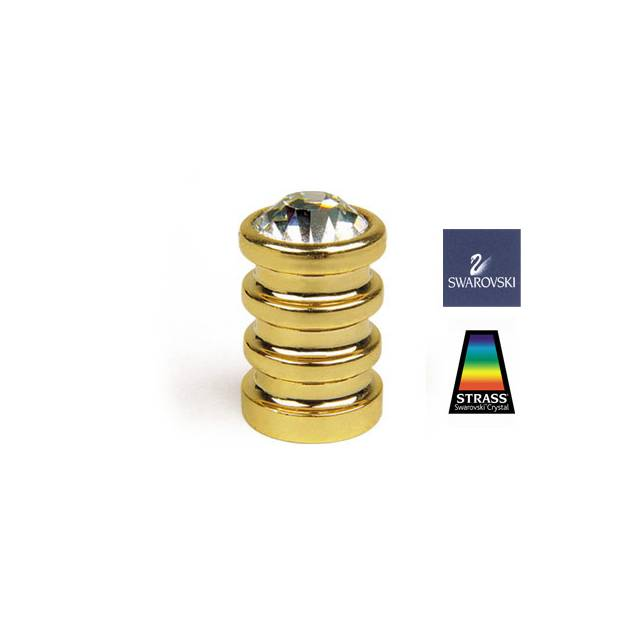 R23 GOLD PLATED-SWAROVSKI FURNITURE KNOB
