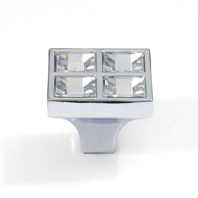 R953 CHROME GLASS FURNITURE KNOB
