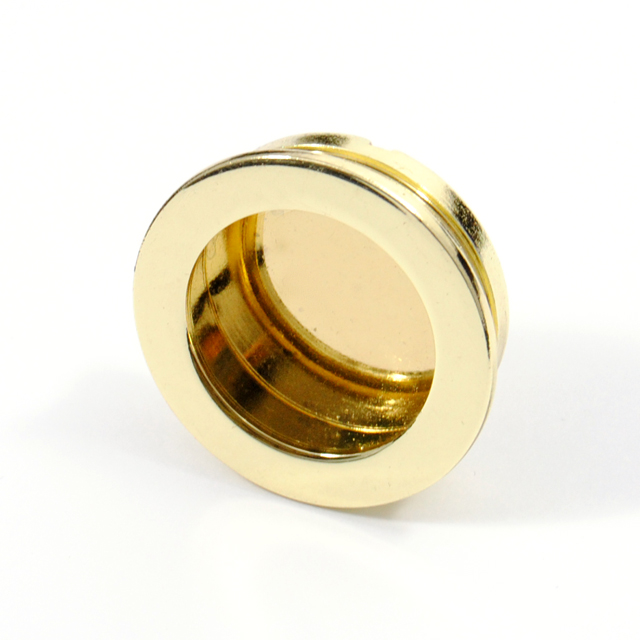 GOLD INSET PULL ROUND D.35