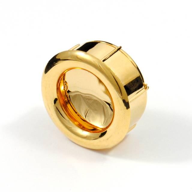 GOLD INSET PULL PLASTIC ROUND D.35