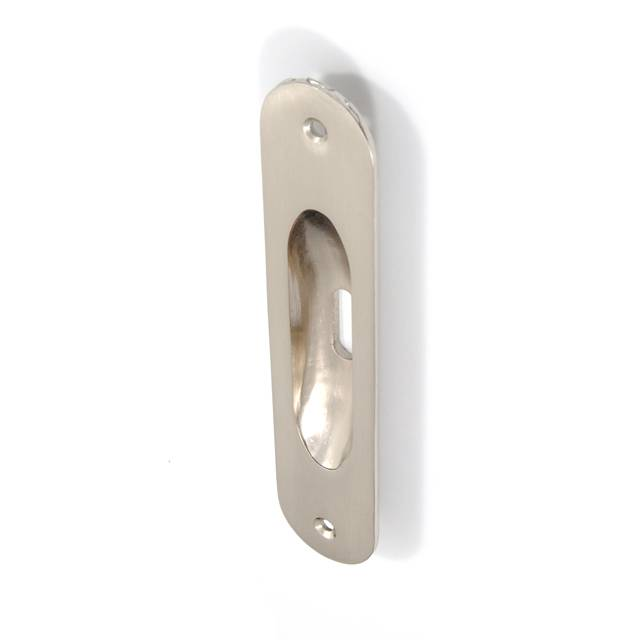OVAL MAT NICKEL PULL FOR SLIDING DOOR WITH HOLE