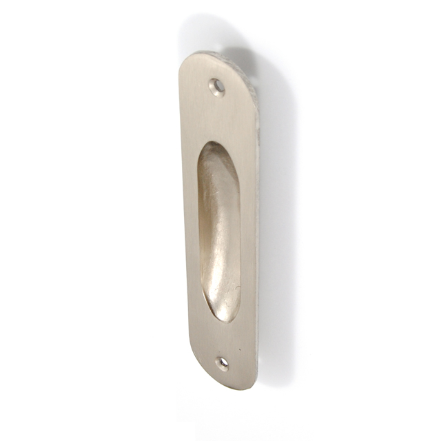 OVAL MAT NICKEL PULL FOR SLIDING DOOR WITHOUT HOLE