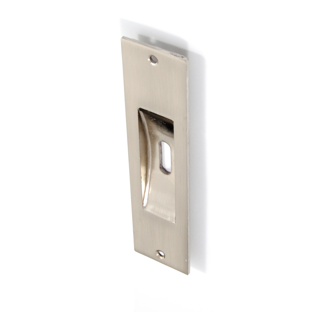 SQUARE MAT NICKEL PULL FOR SLIDING DOOR WITH HOLE
