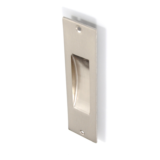 SQUARE MAT NICKEL PULL FOR SLIDING DOOR WITHOUT HOLE
