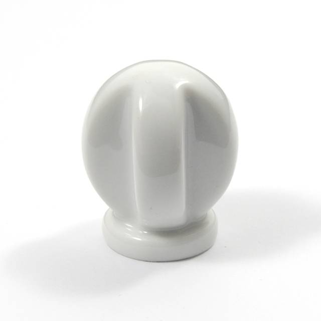 L001 WHITE FURNITURE KNOB LIMOGES