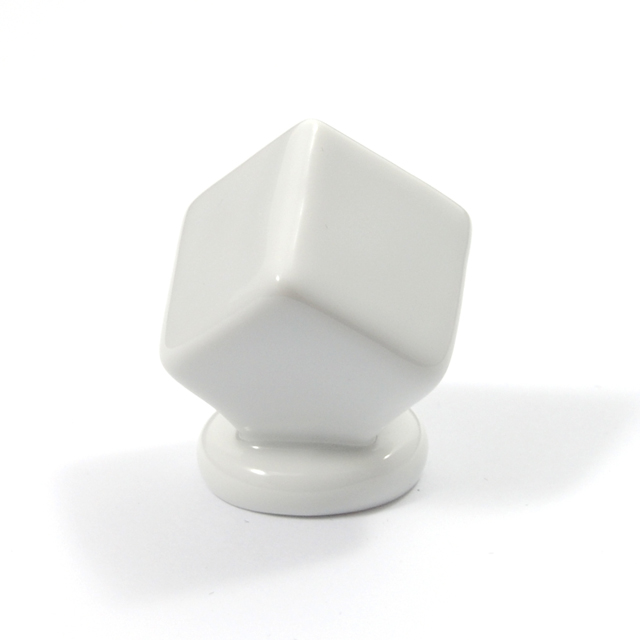 L003 WHITE FURNITURE KNOB LIMOGES